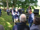 Landrat Dr. Ansgar Müller bei einer kurzen Ansprache. Daneben  Mike Rexforth, Bürgermeister Schermbeck.