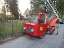 15.03.2017 Bei vorbereitenden Arbeiten zum Streckenweiterbau war uns das historische Feuerwehrfahrzeug des Heimatvereins behilflich.