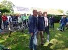 Bürgermeister Mike Rexforth, Landrat Dr. Ansgar Müller, Michael Nienhaus, 1. Vors. Feldbahnfreunde (v.r.)
