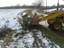 Umbauarbeiten zum Lückenschluss zwischen alter und neuer Strecke.